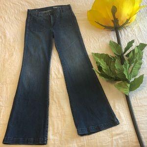 GAP 1969 Authentic Patch Pocket Flare Jeans EUC